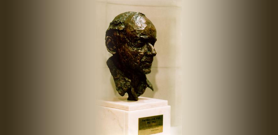 bust of Paul Dirac by Gabriella Bollobas