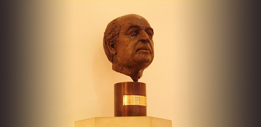 bust of Sir Michael Atiyah by David Annand