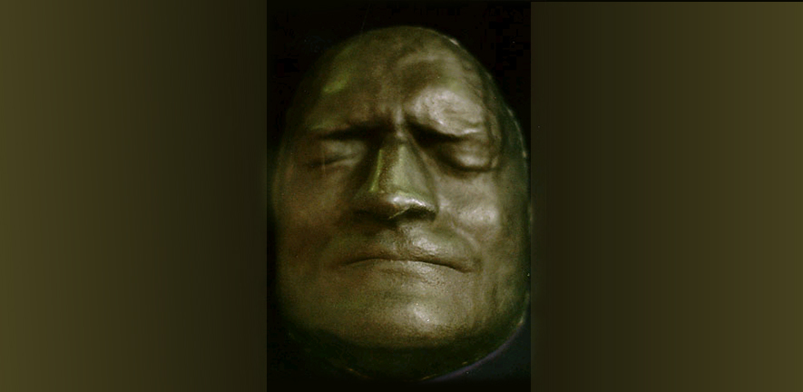 deathmask of Isaac Newton made for the Highgate Literary Institute