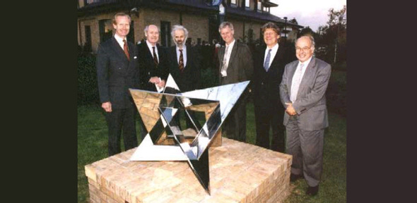 "inauguration of John Robinson's sculpture ""Genesis"""