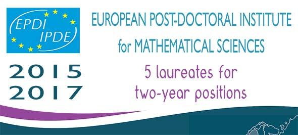 EPDI for Mathematical Sciences call for laureates 2015-17
