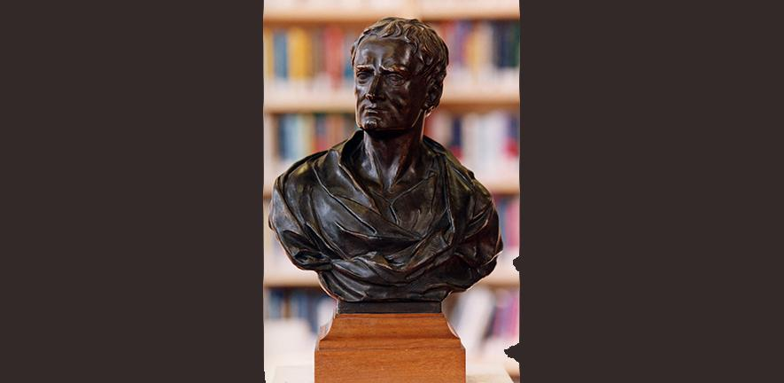plaster bust of Isaac Newton by Maud Mary Kett