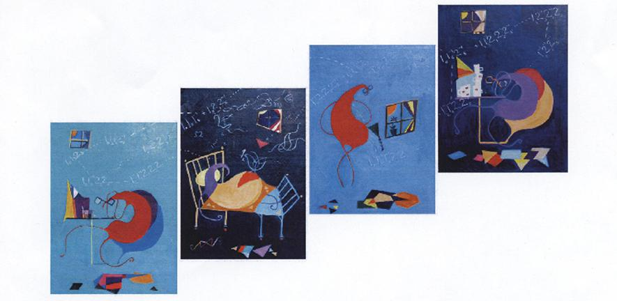 "the four panels of ""My Dad is a Mathematician"" by Natalia Rojkovskaia"