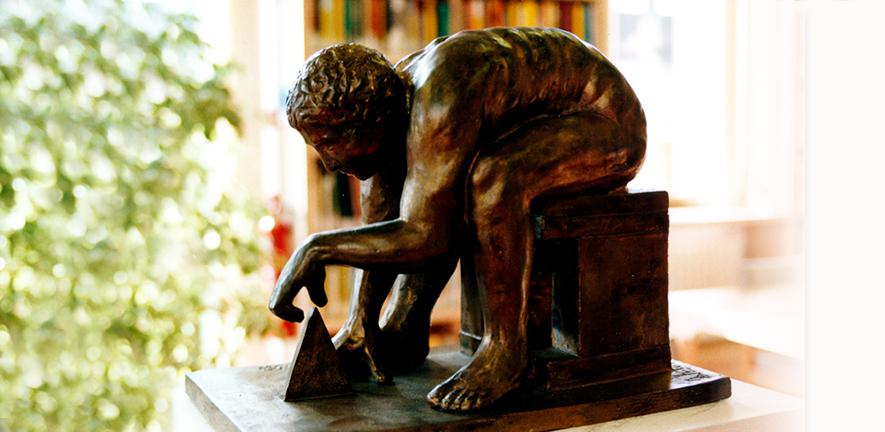 Paolozzi's sculpture of Isaac Newton