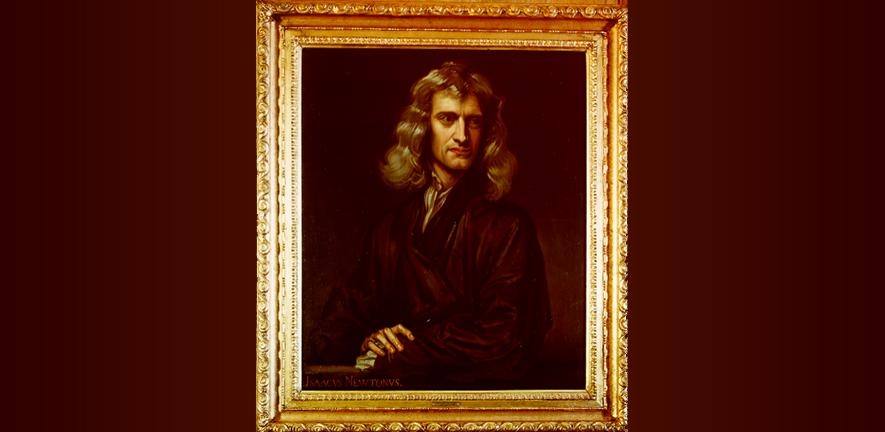 portrait of Isaac Newton by Barrington Bramley