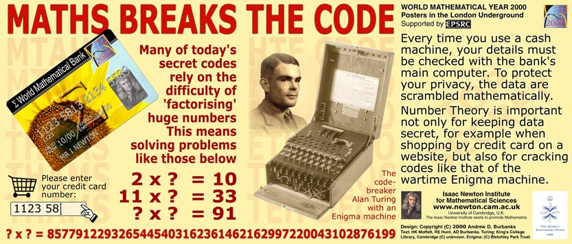 October poster: Maths Breaks the Code